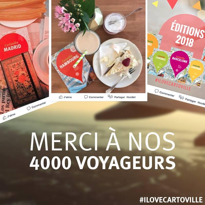Merci à nos 4000 voyageurs !
